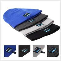 Wholesale Christmas Gifts Bluetooth Beanie Hat Wireless Gym Headphones Stereo Music Bluetooth Headset Hat Handfree