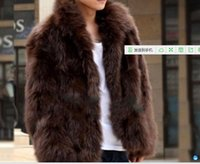 Wholesale man fale fox fur outwear fashion Korea jacket down parka faux fur