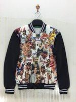 Wholesale New Outerwear autumn mens baseball jackets D print Jordan basketball stars fashion jacket long sleeve fall casual coat top