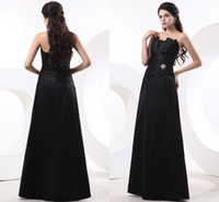 apple brooch pin - Black Formal Evening Dresses Strapless Flower pin Brooches Sleeveless Satin Vestido De Fiesta Mather Of Bridal Dress Prom Long Party Hown ZY
