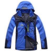 ykk waterproof zipper - Mens Outdoor Jacket in1 Warm Fleece YKK zipper Winter Outerwear Waterproof Coat dorp worldwide