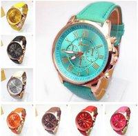cheap gifts for women - charm Geneva Ladies Wrist Watches Fashion quartz unique leather band roman numerals Watches For Women Watches gift cheap China