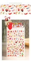 Wholesale Daisyland Kawaii Merry Christmas Sock Sticker PET Epoxy Sticker For Scrapbooking Party Decoration Halloween Supplies