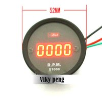 Wholesale V Digital red RPM digital motorcycle tachometer speedometer in stock