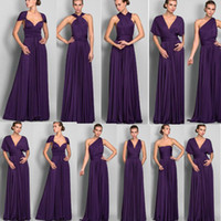 Wholesale Cheap Long Chiffon Bridesmaid Convertible Dresses Floor Length Hot Selling Wedding bridesmaid Dress