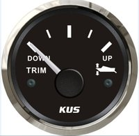 Wholesale 52mm black faceplate Trim gauge mercury trim gauge ohm stainless steel for the outboat yacht