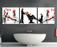 barbering pictures - 3 Panels Modern Wall Painting barber shop picture Home Decorative Art Picture Paint on Canvas Prints T