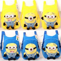 eye bag cream - children s backpack Cute D eyes Despicable Me Minion Plush Backpack Child PRE School Kid Boy and Girl Cartoon Bag School bag DHQ022