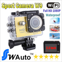 Wholesale New Go pro SJ6000 Style WIFI Action Camera W9 MP CMOS Full HD P FPS