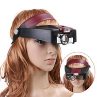 Wholesale New Arrival Headset X Magnifier Magnifying Glass Lens Loupe with LED Light Jewel Repair