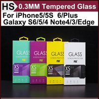 Wholesale 0 MM Tempered Glass Screen Protector H D For iPhone5 S iPhone6 Plus Galaxy S6 S5 S4 Note4 Note3 Note Edge and other Models