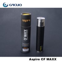 Wholesale 100 Authentic Aspire CF Maxx W Mod with mah Capacity variable wattage Strong Power Match ohm resistance Tank with USB charger