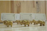 wedding place card holders - Lucky Golden Elephant Place Holders card Wedding table decoration Party Supplies favors gifts for Bridal Shower