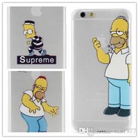 ate cover - For iPhone iphone plus case the homer simpson simpsons Frosted transparent the Simpson eat APPLE case cover designs available