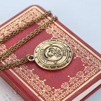 banks pendants - 2016 Harry Necklaces Gringotts Wizarding Bank Vintagntique Bronze fashion Pendants necklace For Men and Women ZJ