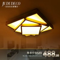 Wholesale Japanese style garden square Nordic Ceiling lamps light atmosphere romantic master bedroom room ceiling lamp Art