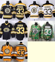bears hockey - 30 Teams Cheap Ice Hockey Boston Bruins Zdeno Chara Jersey Third Bear Alternate Black Uniform Chara Bruins Jersey