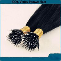 Wholesale DHL indian human hair queen hair products A quot quot g s s set stick tip nano ring hair extensions Jet black