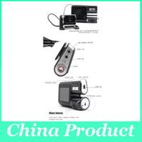 I1000 coche DVR de doble cámara de doble lente de la videocámara HD 720P Dash Cam Box Negro Con trasero 2 Cam Vehículo Ver Dashboard 002780