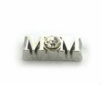 Cheap 20PCS lot Silver Rhinestone Mom DIY Alloy Floating Charms Fit For Magnetic Memory Glass Living Lockets Fashion Jewelry Making