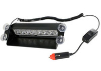 Nave de luz estroboscópica de advertencia Baratos-Envío gratuito Venta caliente 8 LED luz de estroboscópica 8W 12V coche Flash luz emergencia advertencia luz alta potencia