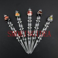 bag pipes - 5PCS BAG glass worked oil dabber smoking accessories Glass pencil dabber health stone pipe OIL DABBER
