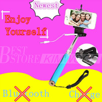 Wholesale Z70 S Extendable Wired in Audio Cable Selfie Stick No Need Bluetooth or Charge Colorful Monopod For IOS Android In Stock