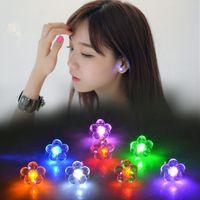 Wholesale Earrings Studs Glow Earrings Dance Party Pub Bar Accessories Clip On Earrings Led Light Up Stainless Steel Fashion Earring Lights