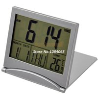Wholesale Cheap New Silver Mini Desktop Multi function Weather Station Thermometer Alarm Clock With Snooze Function
