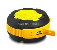 scratch card - Outdoor waterproof anti fall scratch proof portable speakers Bluetooth speakers outdoor mini card speakers yellow