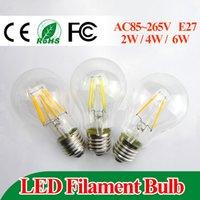 led color bulb - E27 led filament bulb w w w led bulb AC100 V bulb lamp Degree lm warm white color bulbs for home indoor kitchen AC110V AC220V