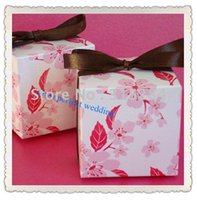 Wholesale Cherry Blossom Wedding Favor Boxes - Wholesale-FREE SHIPPING--Oriental Cherry Blossom Wedding Favor Boxes, Candy Box, Decorating Box, Chocolate Box (XY-116B)