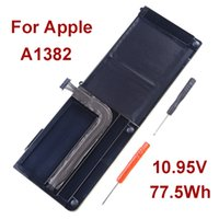 Wholesale NEW Genuine Original A1382 Laptop Battery For Apple Macbook Pro quot A1286 V Wh