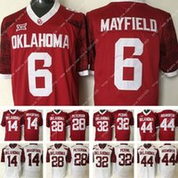 Wholesale Newest Sam Bradford Oklahoma Sooners Jersey Adrian Peterson College Samaje Perine Brian Bosworth Football Jersey Red