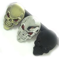 Wholesale 3M Motorcycle Decal SKULL METAL SKELETON Protector Deposito Moto Racing Stickers Motorcycle Pegatinas Skateboards Racing Stickers