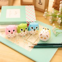 Wholesale Kawaii Owl Pencil Sharpener Cutter Knife Promotional Gift Stationery