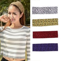 Wholesale Hot Women Men Elastic Sports Yoga Leopard Print Headscarf Headband Hair Accessory New Fashion