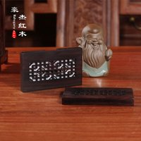 Wholesale The woodcarving handicraft narra hollow box name card name card clip gold coin full exchange of goods carved monolith