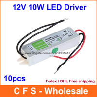 Wholesale 10pcs DC V A W Waterproof Electronic LED Driver Transformer Power Supply Mains Fedex DHL