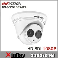 dome camera - High Quality Multi Language Hikvision Full HD1080p IR Dome Camera DS CC52D5S IT3 Day Night IP66 EXIR Technology HD SDI Camera