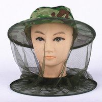 beach fly fishing - Midge Mosquito Cap Women Men Sun Shade Fly insect Bucket Hat Outdoor Fishing Camping Field Jungle Protect Face Cap Cover DHL Ship
