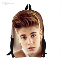 Wholesale New justin bieber bag children backpack for mochila kids children school bag for kids new boys school bag for mochila infantil