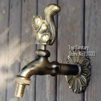 Wholesale TB9044 Decorative outdoor faucet rural animal shape garden Bibcock with antique bronze Squirrel tap for Garden washing