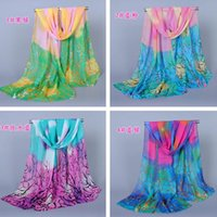 Multi accessories oil painting - Fashion Chinoiserie Women Scarf Gradient Oil Painting Pattern Scarves For Outdoor Beach New Fashion Accessories For Lady