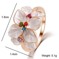 Wholesale Jewelry Ring Rose Gold Plt clover fashion lucky rings Christmas women rings