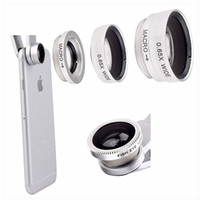 wide lens - 1 Set in1 Clip Fish Eye Wide Angle Macro Mobile Phone Camera Lens Fisheye Lens Kit
