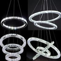 Wholesale Hot sale Diamond Ring LED Crystal Chandelier Light Modern Chandelier Circles Guarantee
