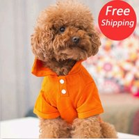 Wholesale Cute Pet Dog Apparel Clothes Shirt Solid Cotton POLO T Shirt sweater DH04