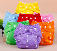 Wholesale New Unisex Baby Nappies Adjustable Cotton Washable Cloth Diapers Reusable Colors tampa fralda de pano fraldas reutilizaveis