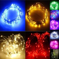 aa holidays - 5m led m led m led Silver Copper Wire colorful DC V AA battery Christmas outdoor LED String waterproof Fairy Lights